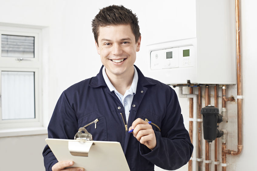 Maintenance Contracts for HVAC, plumbing, and electrical services - MEP Home Services technician completing routine check up