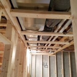 Overhead HVAC, MEP Construction Project, New Construction