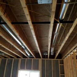 MEP New Construction Project Overhead HVAC System Tubing